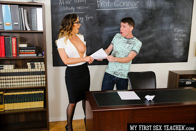 My First Sex Teacher – Cherie DeVille fucks her student