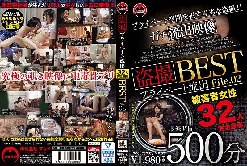 BAK-037 盗撮 プライベート流出500分 BEST File.02