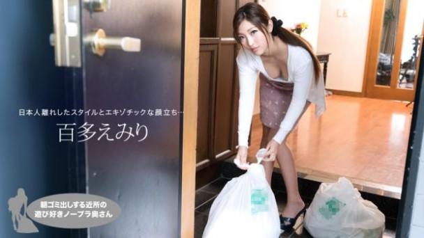 (HD) 一本道021019_809 早起鄰居人妻不穿奶罩倒垃圾真欠幹 百多惠美里